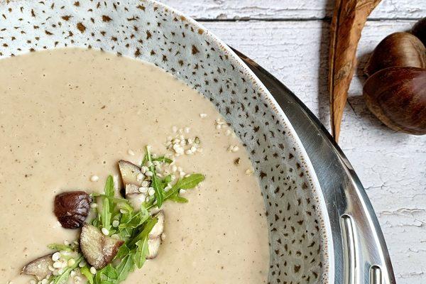 Gaštanová polievka inšpirovaná francúzskom