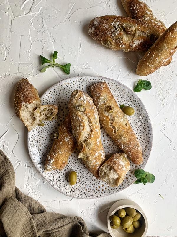 Olivové tyčinky z kvásku
