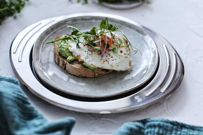 Hrianka s hráškom a vajíčkom