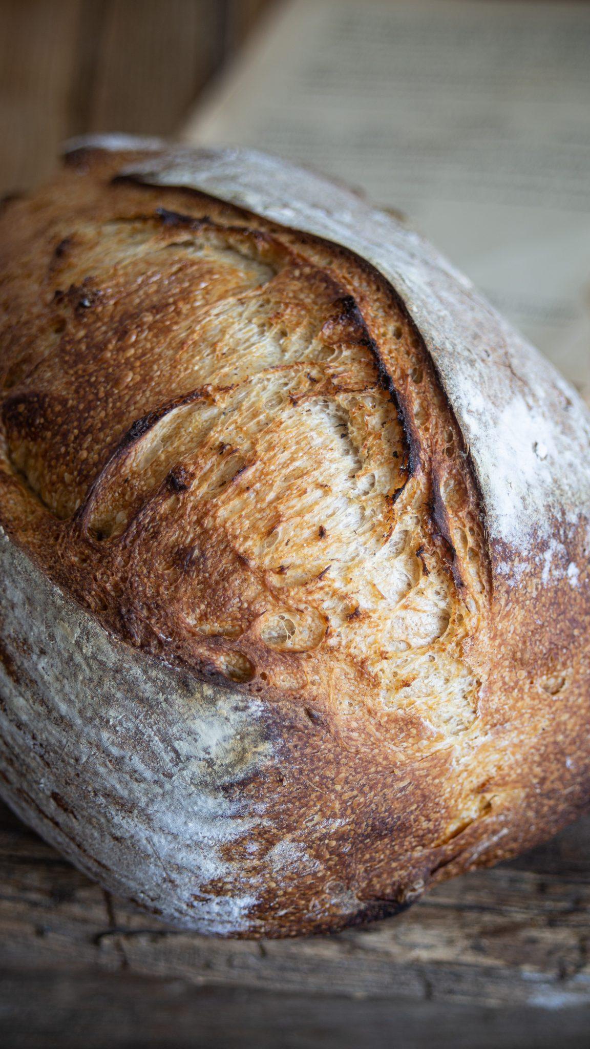 Bochník kváskového chlebu